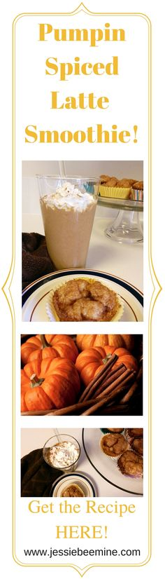 Pumpkin Spiced Latte Smoothie - This smoothie taste just like a Pumpkin Spice Latte, but is actually good for you!  www.jessiebeemine.com