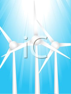 iCLIPART - Royalty Free Clipart Image of Wind Turbines