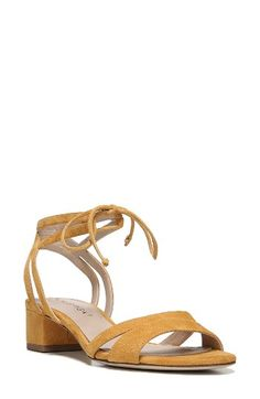 Free shipping and returns on Via Spiga Taryn Block Heel Sandal (Women) at Nordstrom.com. A low block heel adds trend-right lift to a strappy Italian-leather sandal with a velvety suede finish and a simple ankle tie that evoke romantic walks on warm summer evenings.