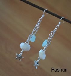 Seashell Jewelry ... Starfish and Shells Earrings (0523). $9.00, via Etsy.