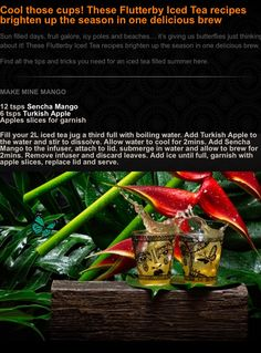 Make Mine Mango Recipe Iced Tea Recipes, Mango Recipes, Ice T, Drinking Tea, Brewing, Fruit, Drinks, Day, Tips