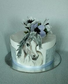 Cake with horse - http://cakesdecor.com/cakes/304667-cake-with-horse