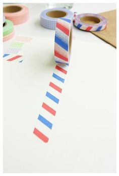 French Masking Tape  Airmail Stripes by packagesandstrings on Etsy, €3.00