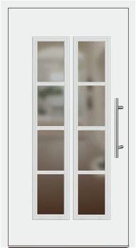 Hochwertig Kunststoff Haustür Modell 1004 Weiß