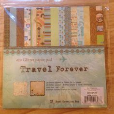 6 x 6 Glitter Paper Pad    Travel Forever  by CynthiasCraftingNook, $6.00