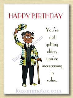 African American Male Birthday Card C