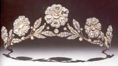 The Strathmore Rose tiara.  A gift from the Earl of Strathmore to his daughter on the occasion of her wedding.  Of course this is the woman we would come to know as Queen Elizabeth the Queen Mother.