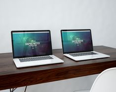 Free Double Macbook Pro Mockup (27.9 MB) | Graphic Twister