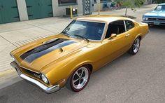 壁紙をダウンロードする クーペ, 1973年, フォード, maverick, 車, レトロ