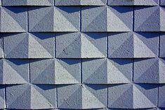 geometric pattern concrete blocks
