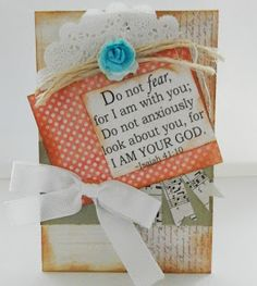 Inspired Stamps; Scripture tag by DeNetra
