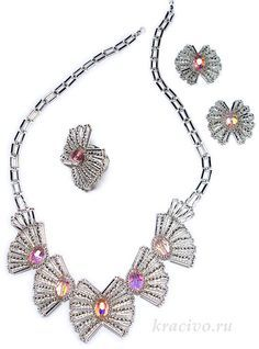 Love this collection of Pretty Bugle Bead Jewelry Beading Tutorials Diy Jewelry Necklace, Seed Bead Necklace, Seed Bead Jewelry, Handmade Beaded Jewelry, Wire Jewelry, Handcrafted Jewelry, Jewelry Sets, Beaded Necklace, Jewelry Making
