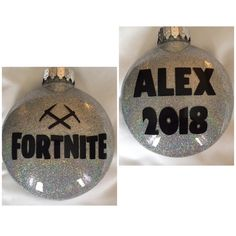 Excited to share this item from my #etsy shop: Personalized Fortnite 2 sided glitter Cheistmas Tree Ornament