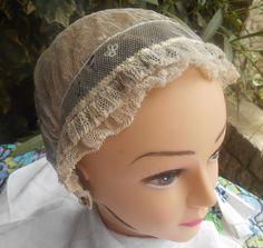 Victorian Tulle Bonnet Handmade French Black by SophieLadyDeParis