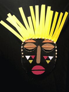 natural looking makeup products African Masks, African Art, African Drawings, Mascarilla Diy, Safari Party Decorations, Africa Day, Mask Drawing, African Crafts, African Sculptures