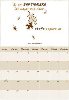 Imprimible: Calendario Septiembre 2015