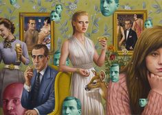 """Schadenfreude"", Oil on Canvas, 39""x54.5"" The Art of Alex Gross"