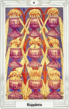 9 de coupes (Happiness) - Tarot Thoth par Aleister Crowley