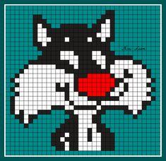 theme personnage divers Perler Patterns, Loom Patterns, Beading Patterns, Cross Stitch Designs, Cross Stitch Patterns, Modele Pixel Art, Graph Paper Art, Pixel Crochet, Embroidery Alphabet