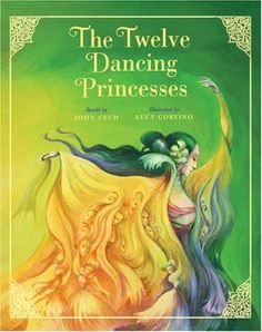 The Twelve Dancing Princesses (Classic Fairy Tale Collection) by John Cech http://smile.amazon.com/dp/1402744358/ref=cm_sw_r_pi_dp_2-CKwb0VQSVND