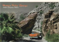 Vintage Palm Springs    This is a RAK card from Art Under Star who is so sweet. Lori is such a wonderful person and I want to thank her so much. This is Palms Springs California, Indian Canyons 1950's