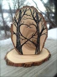Image result for wood burning signs forest