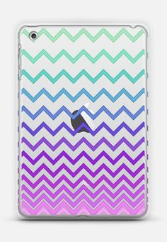 Pastel Ombre Chevron Transparent iPad Mini 1/2/3 case by Organic Saturation | Casetify