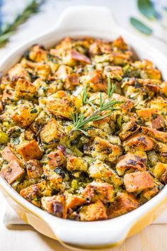 Classic Traditional Thanksgiving Stuffing - Nothing frilly or trendy. Classic, amazing, easy, homemade stuffing that everyone loves!! Simple ingredients with stellar results! It'll be your new go-to recipe!!