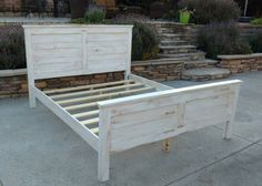 Rustic Wood Bed 50.5 High Farmhouse  By Foo Foo by FooFooLaLaChild