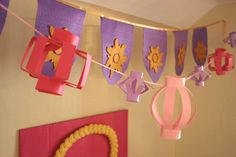 I like these lanterns... inexpensive and easy to make!!!    Honeybee Vintage: Rapunzel Birthday Party!