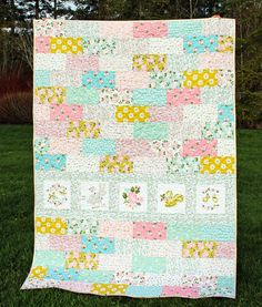 Milk & Honey – Layered Cake Quilt – Riley Blake Designs Brick Patterns, Quilt Patterns, Layer Cake Patterns, Layer Cake Quilts, Charm Quilt, Riley Blake, Milk And Honey, Quilting Tips, Fabric Panels