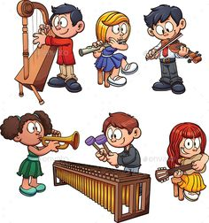 Musician Kids - People Characters