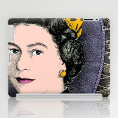 ONE POUND NOTE COLOUR iPad Case by The Griffin Passant - $60.00