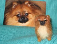 Needle Felted Dog /Custom Miniature Sculpture of by GourmetFelted,