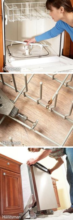 Dishwasher Repair: Solve many problems with these dishwasher repair articles. http://www.familyhandyman.com/appliance-repair/dishwasher-repair