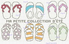 free- collection d'été Tongs, Motifs, Cross Stitch Patterns, Collection, Girly Stuff, Daughters, The Beach, Vacation, Makeup