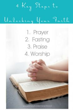 Four Key Steps to Unlocking Your Faith. What you can do today to increase your faith and strengthen your walk with God. (with Scripture) Spiritual Eyes, Spiritual Growth, Christian Women, Christian Living, Words Quotes, Life Quotes, Faith In God, Faith Bible, Bible Study Tips