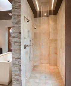 Spa-like bathroom with rain box | Bathroom Remodel Ideas | 16 Beautiful Bathroom Renovation Ideas