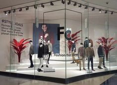 """WOOLWORTHS, South-Africa, """"F C: Fashion That Cares"""", pinned by Ton van der Veer Retail Windows, Store Windows, Display Windows, Window Displays, Budget Blinds, Visual Merchandising Displays, Jewelry Showcases, Shop Fronts, Window Dressings"""