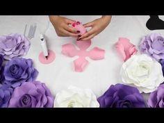 DIY Rose Tutorial (Medium Size Rose) - YouTube
