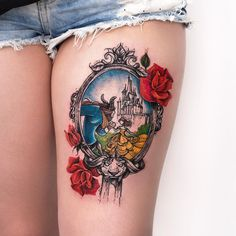 Beauty and the Beast Tattoo by Robson Carvalho