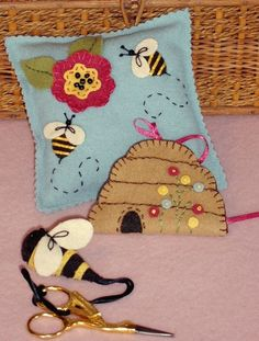 A Sweet Little Wool Applique Needlework Set Fun For You and For Gifts Too.