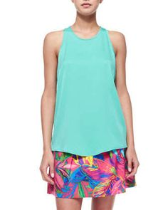Marie Silk Crepe Tank by Milly at Neiman Marcus. 8d3ec843dc