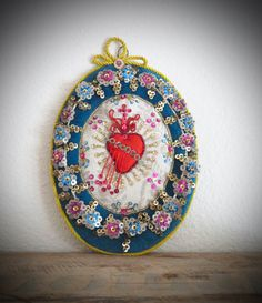 Stunning 8 Late 1800's French SACRED HEART Agnus by VINTAGELOURDES