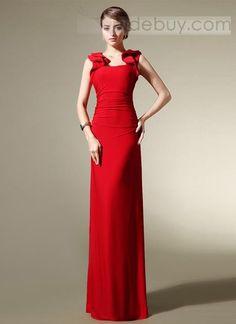 Elegante Piso de la Envoltura de Longitud Correas Gradas de los Plisados Vestido de Noche $139.99 Vestidos de Noche Elegantes
