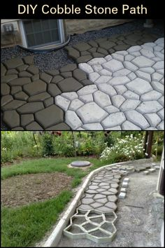Do you think this kind of cobblestone path would suit your garden?