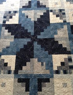 Midnight quilt pattern by Janet Clare using her Nocturne fabric collection