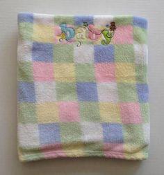 Baby Blanket Pink Green Blue Yellow Duck Bear Parent Choice Pastel White #parentchoice