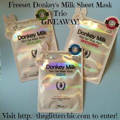 The Glitter Chic: Freeset Donkey's Milk Sheet Mask Trio #Giveaway #Kbeauty