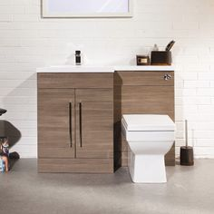 Shop the stylish Valencia Oak Combination Basin and WC Unit online. Choose from…